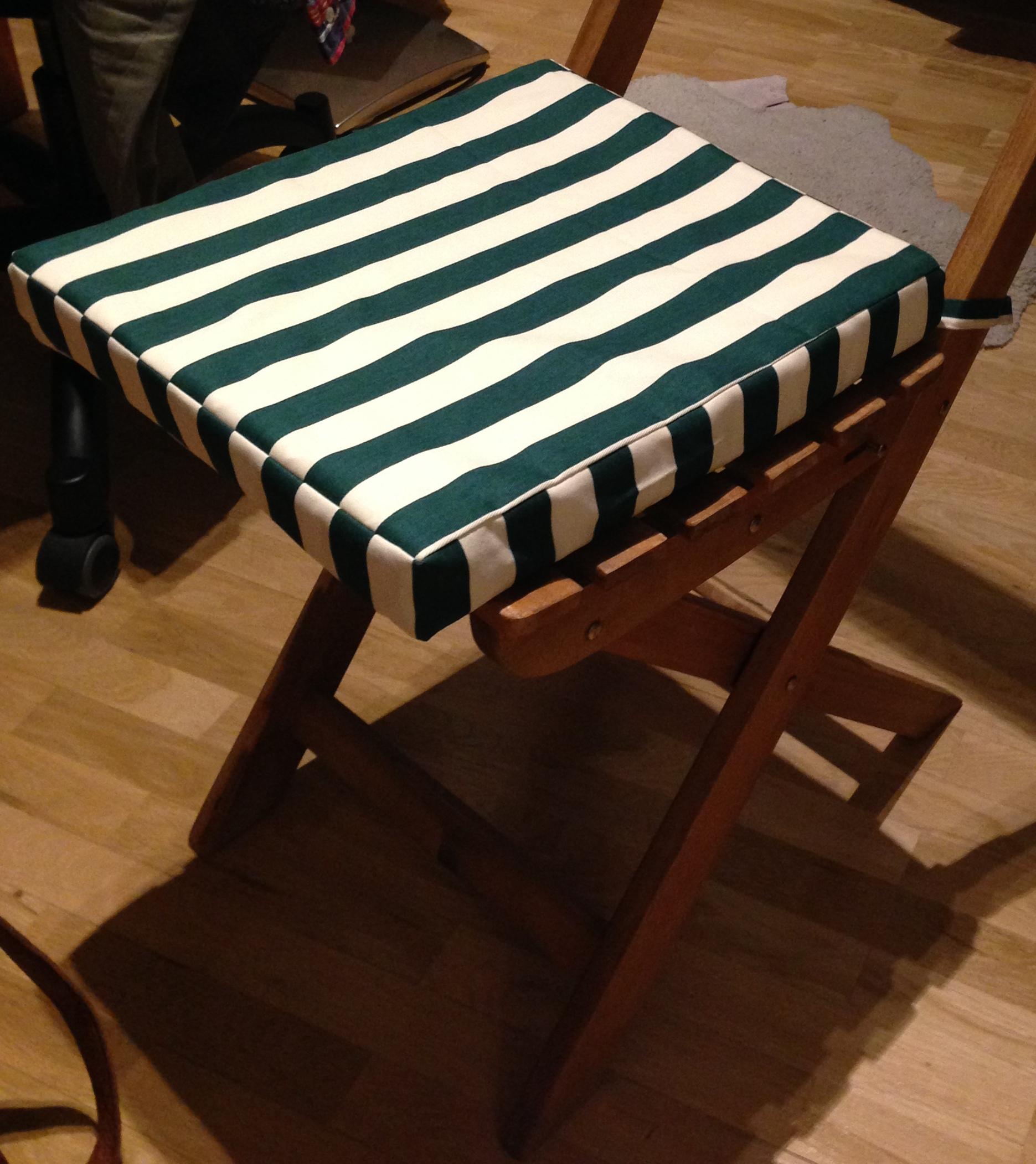 sitzkissen f r gartenst hle bequem den sommer genie en anna n ht. Black Bedroom Furniture Sets. Home Design Ideas
